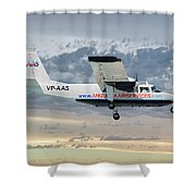 Anguilla Air Services Britten-norman Bn-2a-26 Islander 114 Shower Curtain
