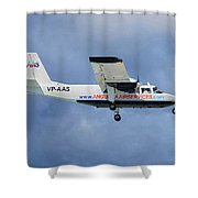 Anguilla Air Services Britten-norman Bn-2a-26 Islander 117 Shower Curtain