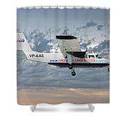 Anguilla Air Services Britten-norman Bn-2a-26 Islander 113 Shower Curtain