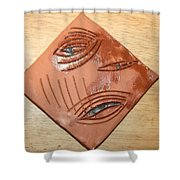 Anguish - Tile Shower Curtain