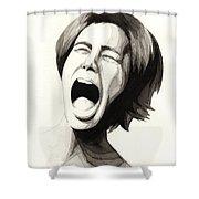 Anguish #3 Shower Curtain