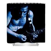 Angus Rocks The Blues Shower Curtain