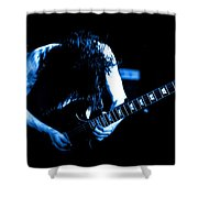Angus Young On Guitar Shower Curtain