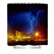 Anheuser-busch On Strikes Shower Curtain