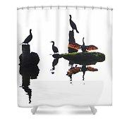 Anhingas Sunning Shower Curtain