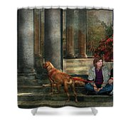 Animal - Dog - Hello There Shower Curtain