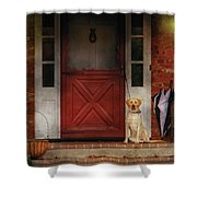 Animal - Dog - Waiting For My Master Shower Curtain