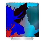 Animal Collage  -011 Shower Curtain