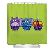 Animal Cupcakes 2 Shower Curtain
