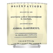 Animal Electricity, Title Page Shower Curtain