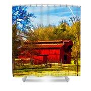 Animal Farm Painting Shower Curtain