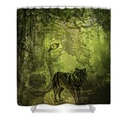 Animal Sprits - The Wolf Shower Curtain