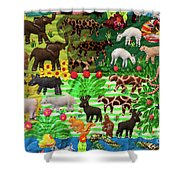 Animal Tapestry Shower Curtain