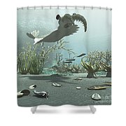 Animals And Floral Life Shower Curtain