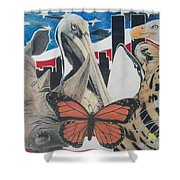 Animals Of Freedom  Shower Curtain