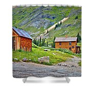 Animas Forks Ghost Town Shower Curtain