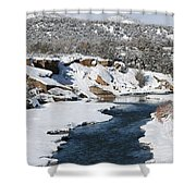 Animas River In January Shower Curtain