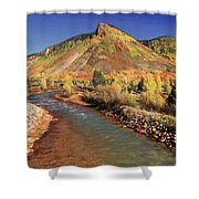 Animas River In Silverton Shower Curtain