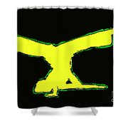 Animated Hiphop Dancer Shower Curtain