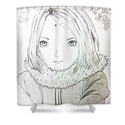 Anime Drawing  Shower Curtain