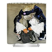 Anime - Personification Of A Lucky Girl  Shower Curtain