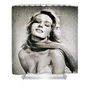 Anita Ekberg, Hollywood Legend By John Springfield Shower Curtain