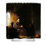 Anna And Blind Tobit Shower Curtain