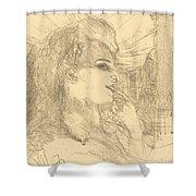 Anna Held Shower Curtain