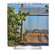 Anna Maria City Pier Landmark Shower Curtain