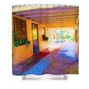 Anna Maria Elementary Office Hallway C130662 Shower Curtain