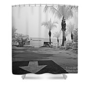 Anna Maria Island Branch Library In Fog Infrared 50 Shower Curtain