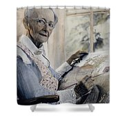 Anna Mary Robertson Shower Curtain