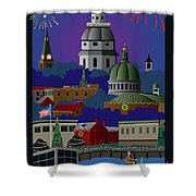 Annapolis Holiday With Title Shower Curtain