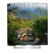 Annapurna Village Shower Curtain
