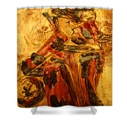 Anne And Friend - Tile Shower Curtain