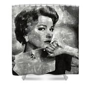 Anne Baxter Vintage Hollywood Actress Shower Curtain