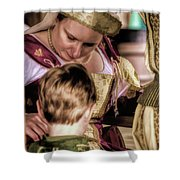 Anne Of Cleves With Prince Edward Shower Curtain