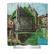 Annecy-the Venice Of France Shower Curtain