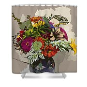 Anne's Flowers Shower Curtain