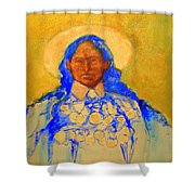 Annie Oakely Shower Curtain by Johanna Elik