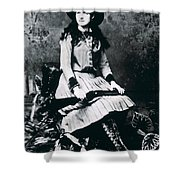 Annie Oakley  Star Of Buffalo Bill's Wild West Show Shower Curtain