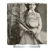 Annie Oakley With A Rifle, 1899 Shower Curtain