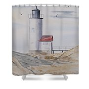 Annisquam Lighthouse 2 Shower Curtain