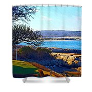 Annisquam Winter Sun  Shower Curtain