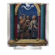 Annunciation To Shepherds Shower Curtain