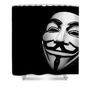 Anonymous V For Vendetta Mask Shower Curtain