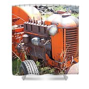 Another Angle Of Old Tractor Shower Curtain