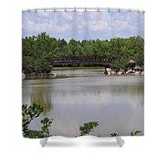 Another Bridge At The Zen Garden Shower Curtain
