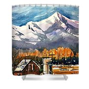 Another Colorado Barn Shower Curtain