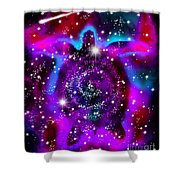 Another Cosmic Sea Turtle Shower Curtain